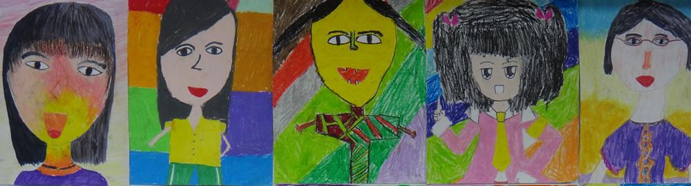 四年級藝術自畫像